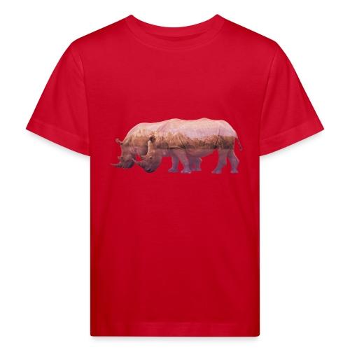Nashorn Alpen - Kinder Bio-T-Shirt