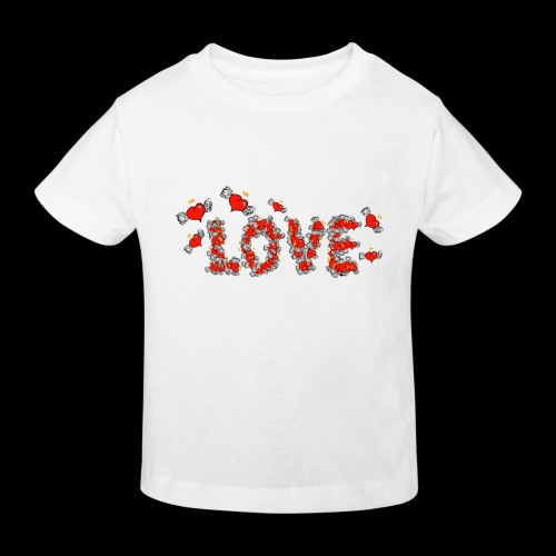 Flying Hearts LOVE - Kids' Organic T-Shirt