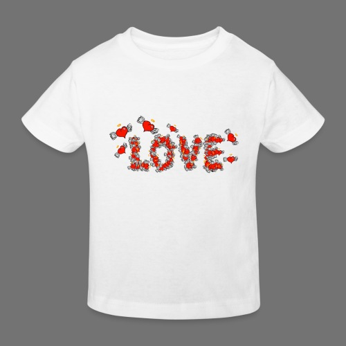 Flying Hearts LOVE - Kids' Organic T-Shirt