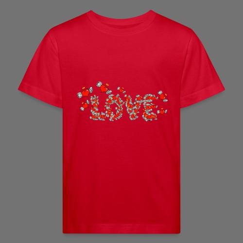 Latające miłości serc - Ekologiczna koszulka dziecięca