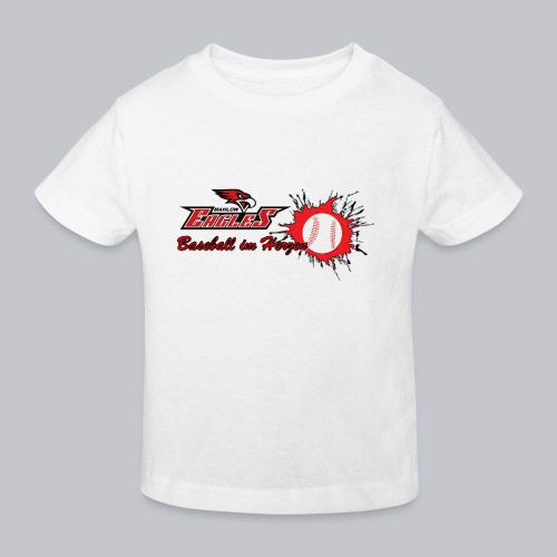Baseball im Herzen - Kinder Bio-T-Shirt