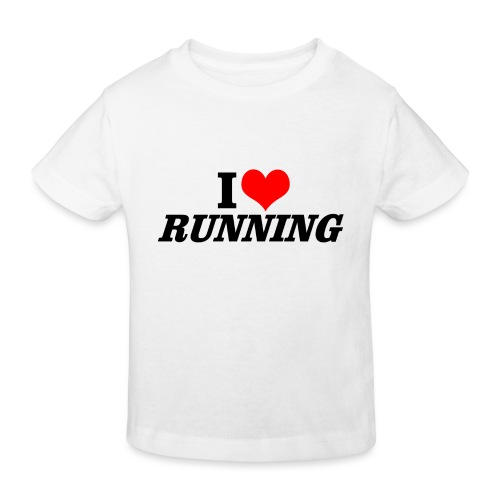 I love running - Kinder Bio-T-Shirt