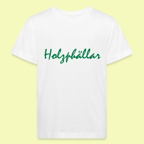 Schriftzug Grün - Kinder Bio-T-Shirt