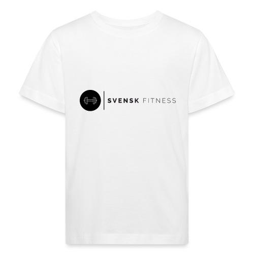 Svart logo vertikal dam - Ekologisk T-shirt barn