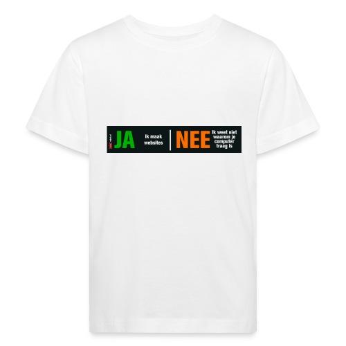 Ja ik maak websites - Kinderen Bio-T-shirt