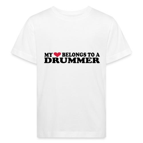 MY HEART BELONGS TO A DRUMMER - Økologisk T-skjorte for barn