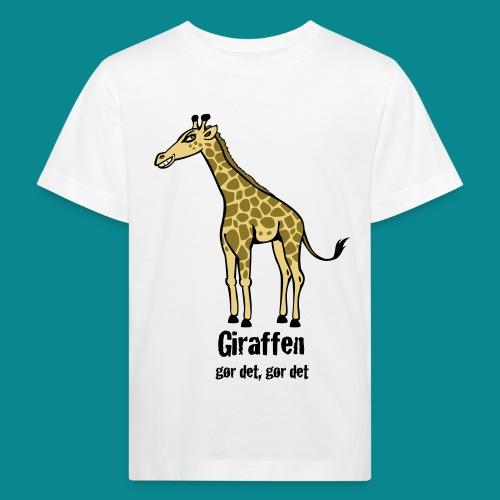 Giraffen - gør det, gør det - Maglietta ecologica per bambini