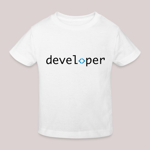 developer, coder, geek, hipster, nerd - Kinder Bio-T-Shirt