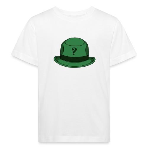 Grüner Rätsel Hut Riddler - Kinder Bio-T-Shirt