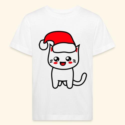 Kawaii Kitteh Christmashat - Kinder Bio-T-Shirt