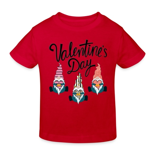 Valentine's Day Gnome - Kids' Organic T-Shirt