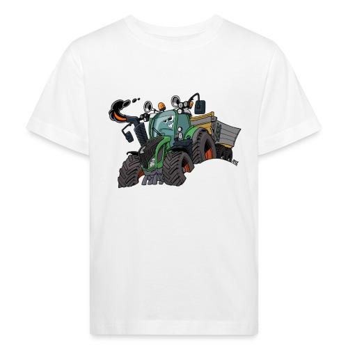 F 718Vario met kar - Kinderen Bio-T-shirt
