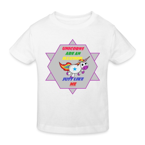 Unicorn with joke - Kids' Organic T-Shirt