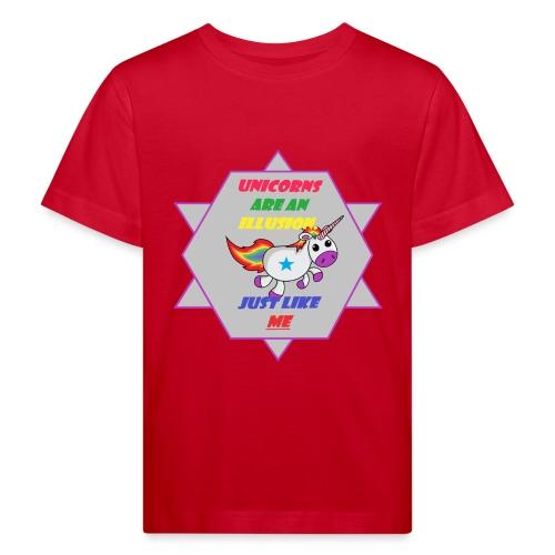 Unicorn with joke - Kids' Organic T-Shirt
