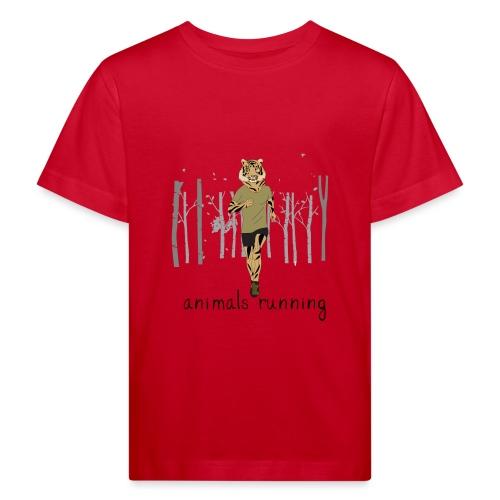Tigre running - T-shirt bio Enfant
