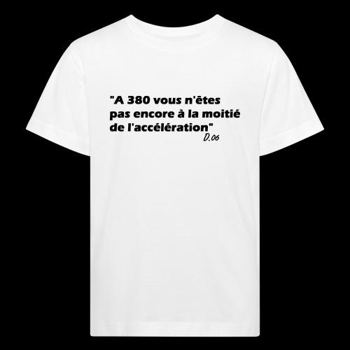380 noir - T-shirt bio Enfant