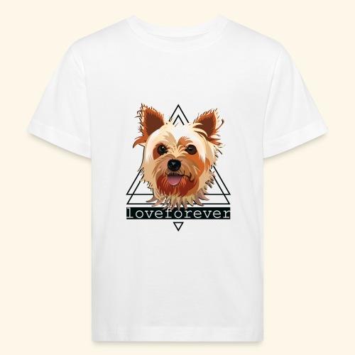 YORKIE LOVE FOREVER - Camiseta ecológica niño