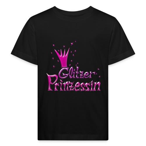 Rosa Glitzer Prinzessin - Kinder Bio-T-Shirt