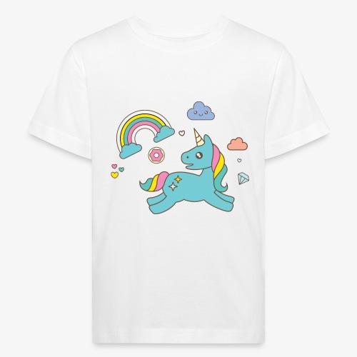 colored unicorn - Kids' Organic T-Shirt
