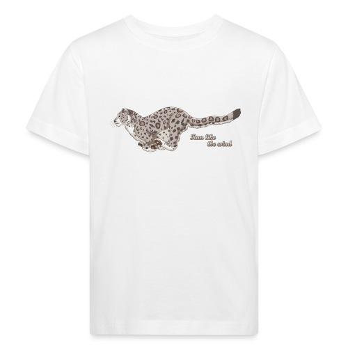 Snow Leopard: Run Like the Wind - Ekologiczna koszulka dziecięca