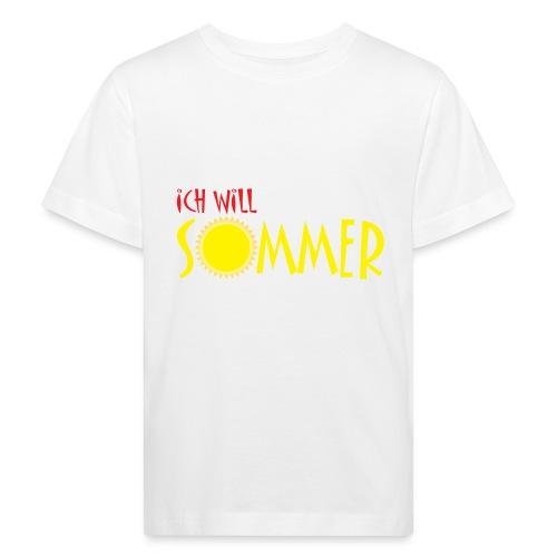Ich will Sommer - Kinder Bio-T-Shirt