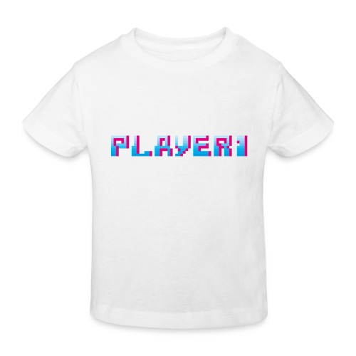 Arcade Game - Player 1 - Kids' Organic T-Shirt