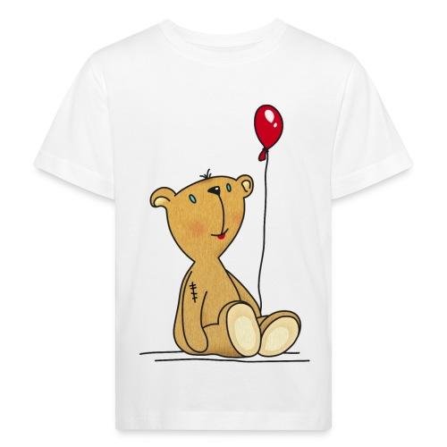 Teddybär mit rotem Luftballon Kuscheltier Kinder - Kids' Organic T-Shirt