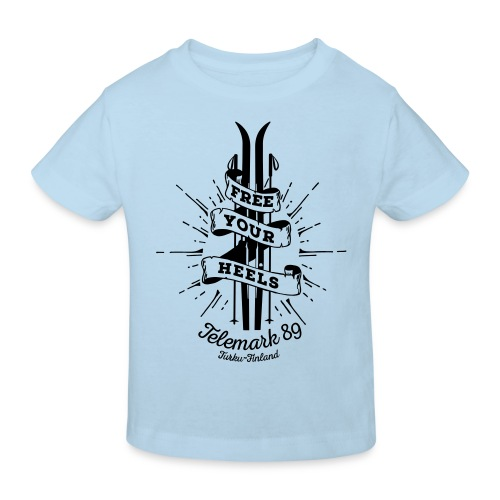 FreeYourHeels_merge - Lasten luonnonmukainen t-paita