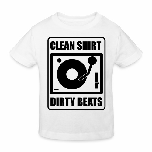 Clean Shirt Dirty Beats - Kinderen Bio-T-shirt