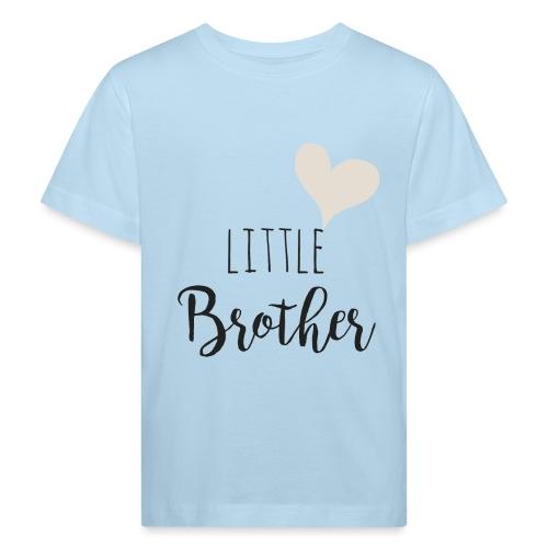 Little brother herz - Kinder Bio-T-Shirt