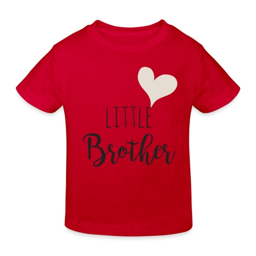 Little brother herz - Kinder Bio-T-Shirt