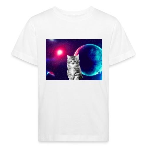 Cute cat in space - Lasten luonnonmukainen t-paita
