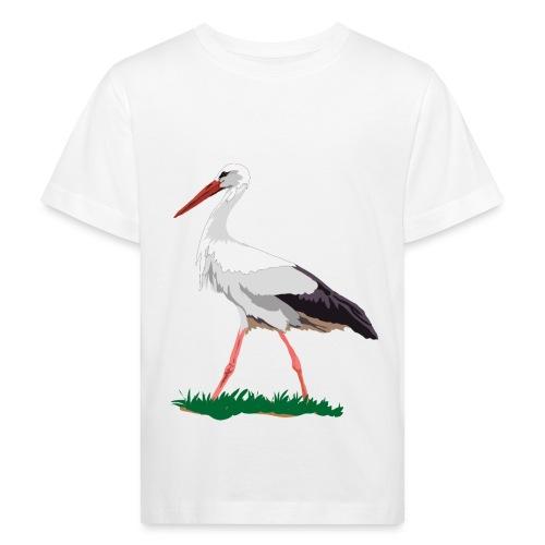 Weißstorch - Kinder Bio-T-Shirt