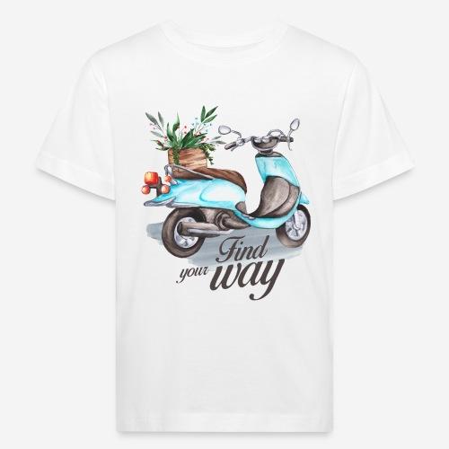 Finde deinen Weg im Leben - Kinder Bio-T-Shirt