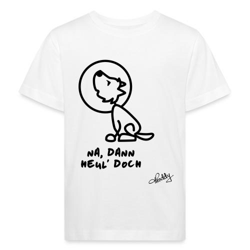 Heulender Wolf - Kinder Bio-T-Shirt