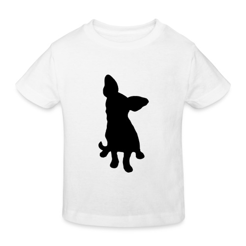 Chihuahua istuva musta - Lasten luonnonmukainen t-paita