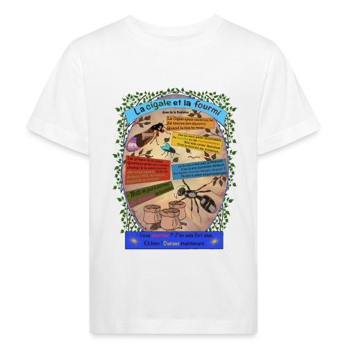 La Cigale et la Fourmi (Jean de la Fontaine) - Kinder Bio-T-Shirt