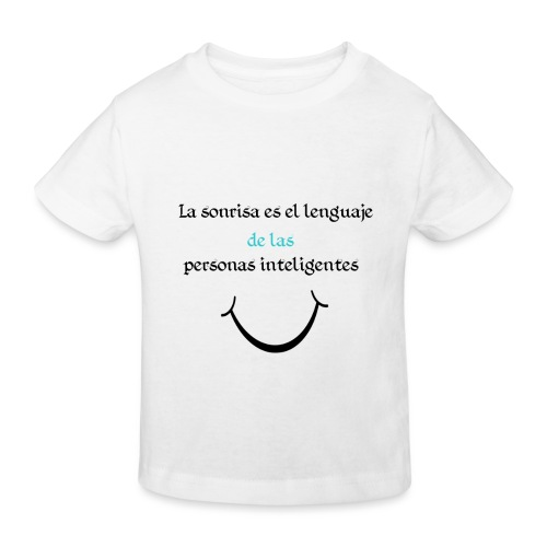 Sonrisa - Camiseta ecológica niño