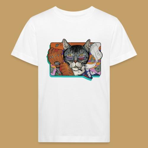 Crime Cat - Ekologiczna koszulka dziecięca