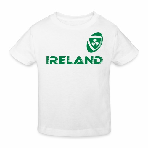 Rugby Ireland Ball - Kids' Organic T-Shirt