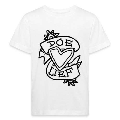 doe lief hart tattoo - Kinderen Bio-T-shirt