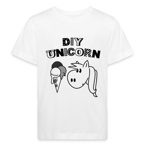 DIY Unicorn Einhorn - Kinder Bio-T-Shirt