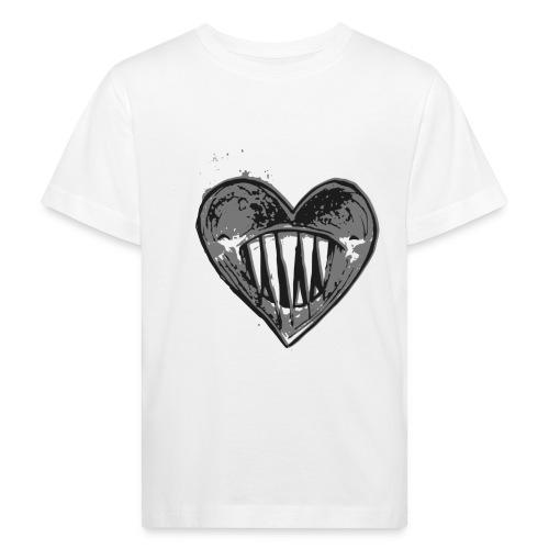 Corazón Negro - Camiseta ecológica niño