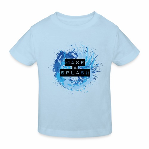 Make a Splash - Aquarell Design in Blau - Kinder Bio-T-Shirt