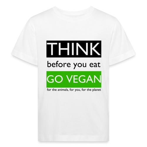 go vegan - Maglietta ecologica per bambini