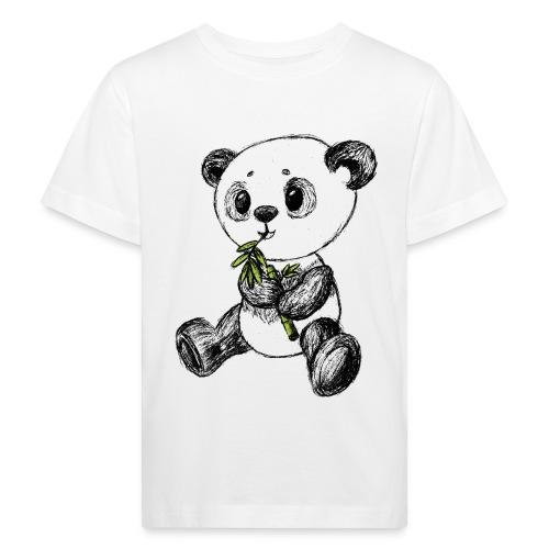 Panda Karhu värillinen scribblesirii - Lasten luonnonmukainen t-paita
