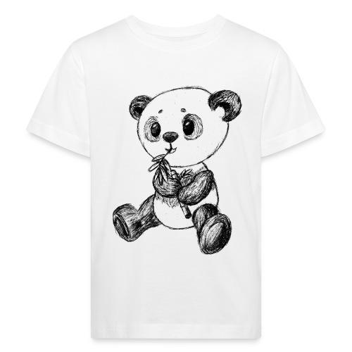Panda Karhu musta scribblesirii - Lasten luonnonmukainen t-paita