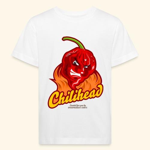 Chili Design Cartoon Chilihead | Grill T-Shirts - Kinder Bio-T-Shirt