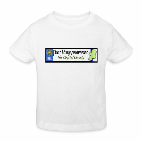 WATERFORD, IRELAND: licence plate tag style decal - Kids' Organic T-Shirt