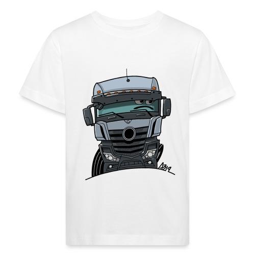 0807 M Truck grijs - Kinderen Bio-T-shirt